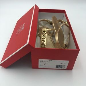Coach gold jelly sandals